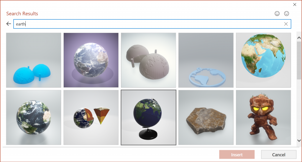 3d gallery from Microsoft PowerPoint