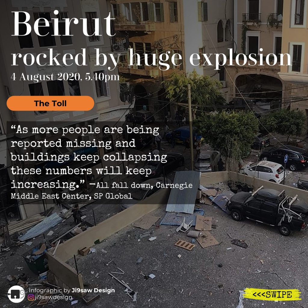 beirut explosion infographic