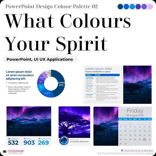 PowerPoint Colour Palette Template Design