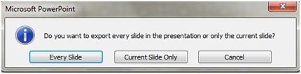 powerpoint export slide dialog box